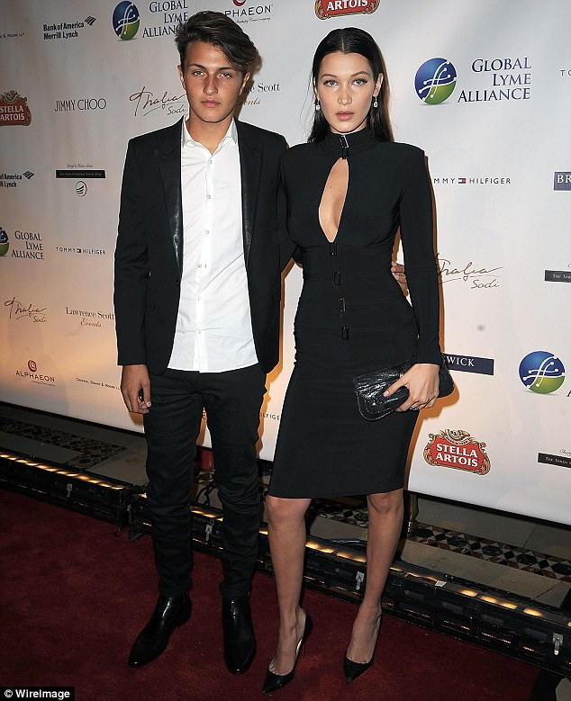 Battle: Anwar and Bella, pictured on Thursday at the Global Lyme Alliance Gala, have been diagnosed with Lyme disease, just like their mother Yolanda