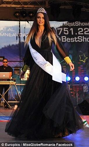 Former Miss Globe Romania Diana Dinu