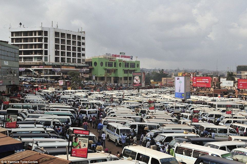 The Old Taxi Park in Kampala, Uganda, is chaotic. Small buses based here transport passengers in all directions