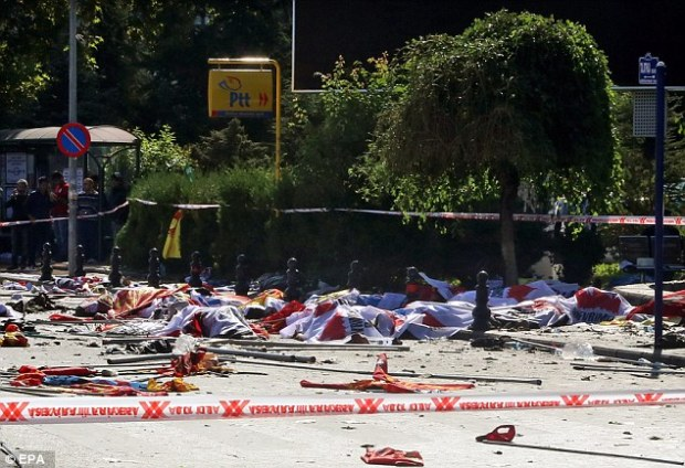 Unimaginable violence: The main function near the train station is a scene of chaos and destruction