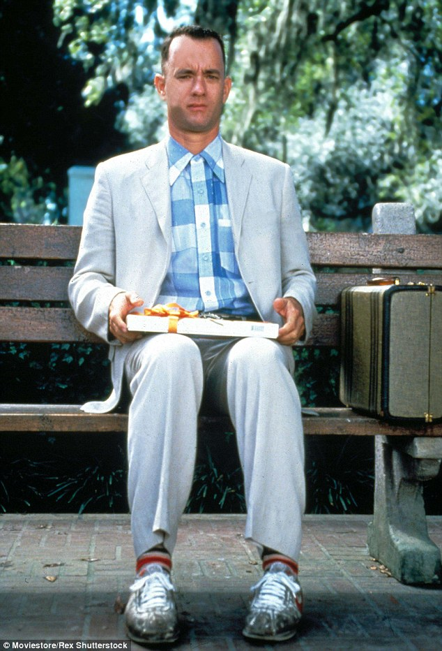 """Tom Hanks - Forrest Gump """"life is like a bunch of chocolates"""""""