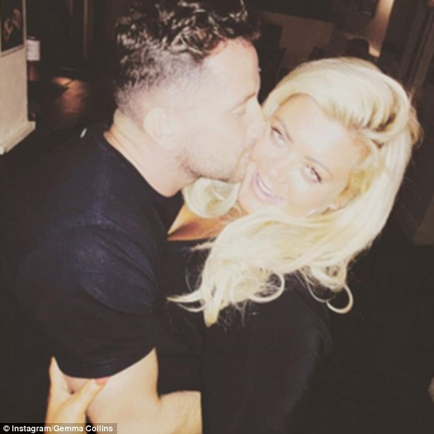 In 2015, reality TV star Gemma Collins posted this picture of Entwistle giving her a kiss on her Instagram account. She captioned the image with a single heart emoji