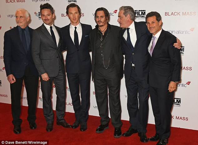Smart suit line-up: Producer Patrick McCormick joined  Cooper, Cumberbatch, Depp, Lesher and Josh Berger