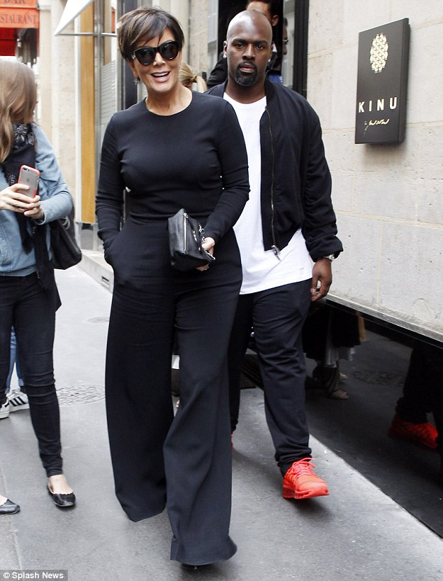 Keeping up: During the season finale of Keeping Up With The Kardashians on Sunday, Kris Jenner revealed: 'I literally have too much sex;' Kris and her boyfriend, Corey Gamble in Paris in October