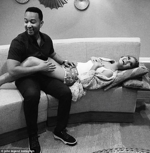 Baby on board:Chrissy Teigen took to social media late Monday to reveal the big news that she and John Legend are expecting their first child