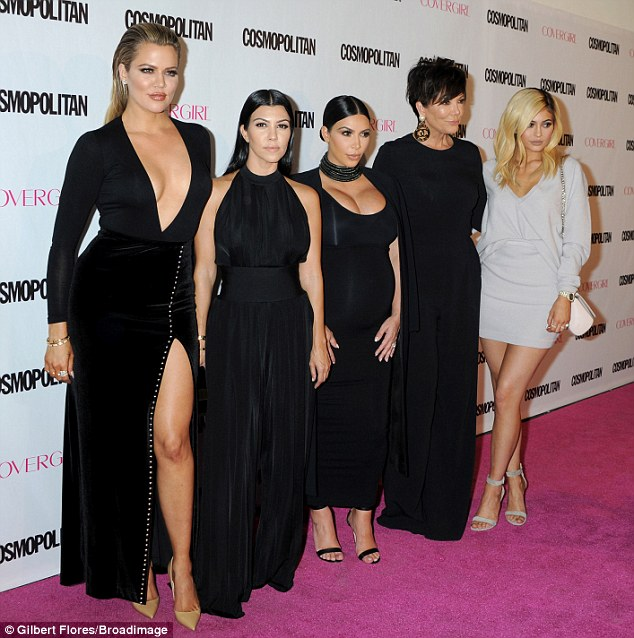 Cover girls: The group, along with model Kendall, grace the cover of Cosmopolitan's latest issue