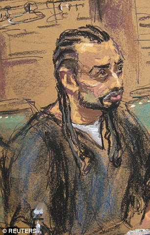 Aswat, 41, is shown in this courtroom sketch during sentencing in U.S. Federal court in New York,
