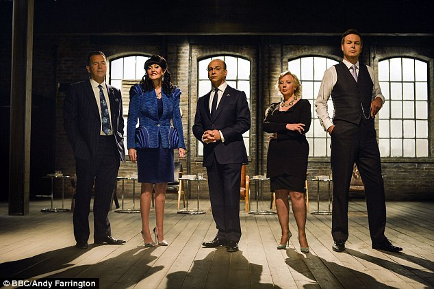 Ex-Dragon: Miss Devey (second left) with (from left to right) Duncan Bannatyne, Theo Paphitis, Deborah Meaden and Peter Jones on BBC's Dragons' Den. She left the series in 2012 and moved to Channel 4