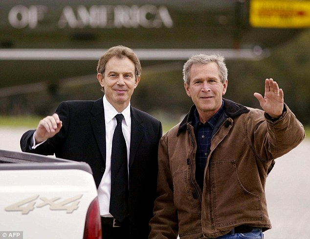 'Just make him look big': Bush's end of the deal seemed to be inflating Tony Blair's position on the world stage