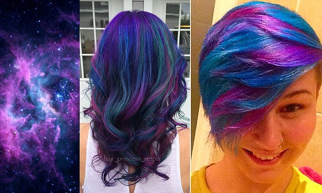 Galaxy Hair Trend Sees Locks Dyed In Deep Purples And