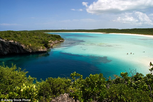 The deepest blue hole in the world is known as Dean's Blue Hole and is located at Turtle Cove on the Atlantic side of the Bahamas