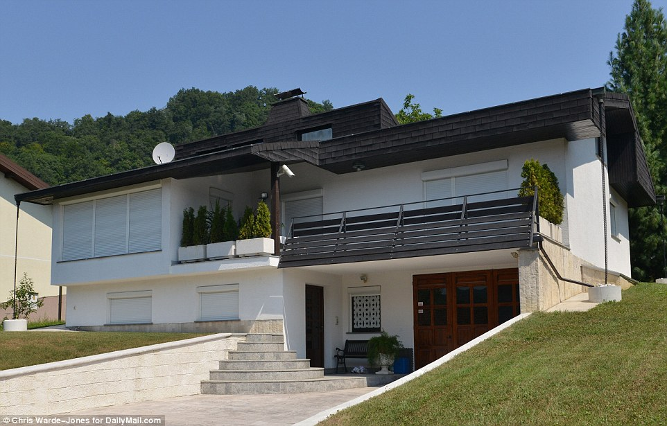 Family home: The current house of Viktor and Analja Knavs in Sevnica. Melania's parents have lived in the same home since 1984