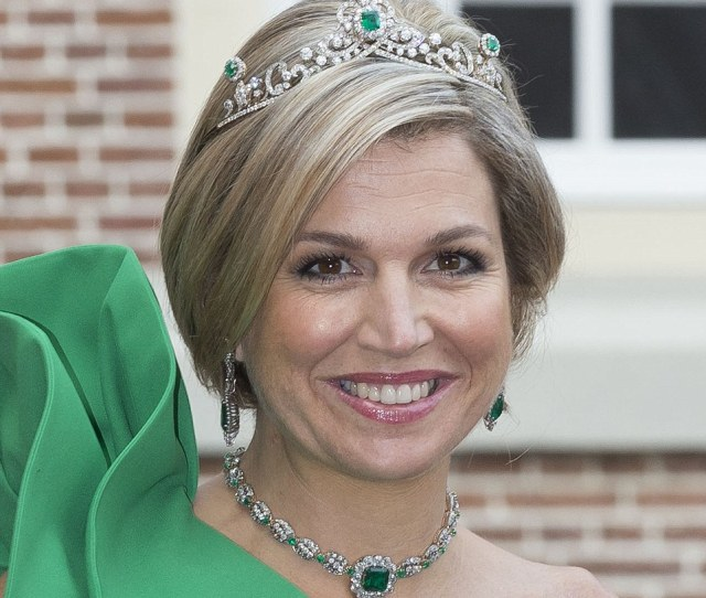 Green With Envy Maxima Opts For Emeralds As She Wears The Dutch Emerald Tiara For
