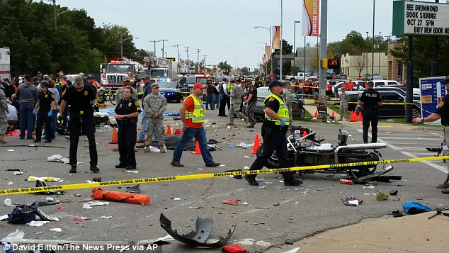 Three people have died and eight are critically injured after a driver ran into a crowd gathered for the Oklahoma State University homecoming parade in Stillwater, Oklahoma