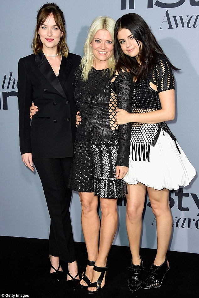 Close knit: The two celebrities showed their love for stylist Kate Young on the red carpet