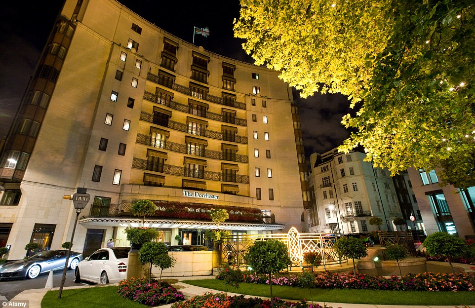 The luxurious Dorchester hotel is a popular wedding venue for effulgent Nigerian couples