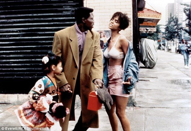 Another Hollywood hunk: Halle also briefly dated her Jungle Fever co-star Wesley Snipes, pictured in the 1991 film