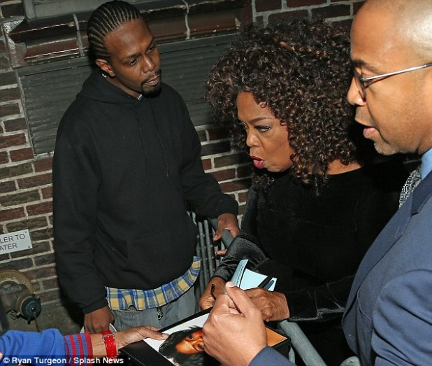 Calvin, who later became suicidal after she 'abandoned' him, said:'I was young. I made a dumb decision, and Oprah wouldn't forgive me. I feel like what she did was wrong'