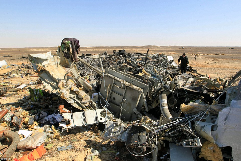 Two teams of Russian crash investigators have arrived in Egypt and have begun working on the site in a bid to discover what happened