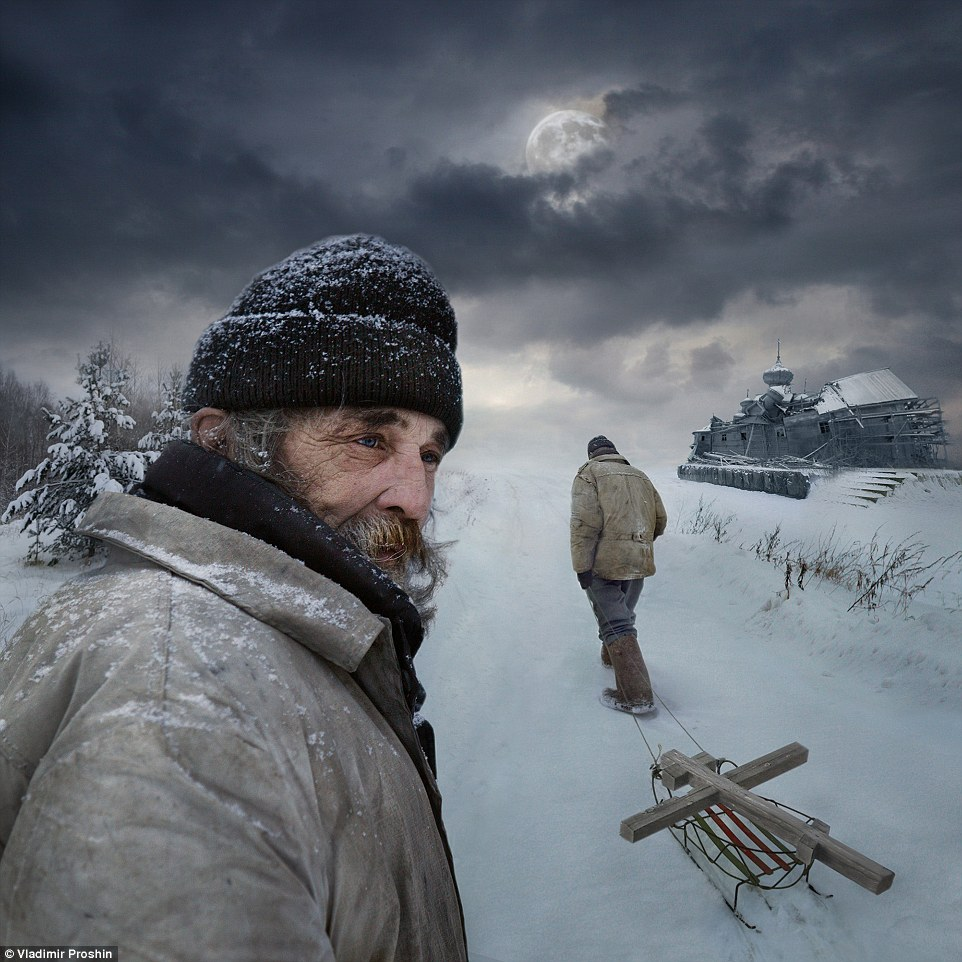 Open colour - Honourable mention: Way byVladimir Proshin.This is the author's most beloved photograph taken in the village of Kantaurovo in the central area of Russia. It represents a person who does not work and lives only by donations. The picture is the reflection of man's destiny, his choice of spiritual life and what a man can reach despite a total lack of money
