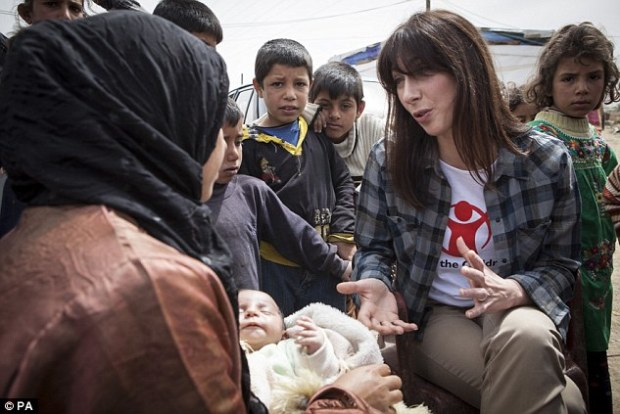 Compassion: The Prime Minister's wife Samantha Cameron visits a refugee camp in Lebanon