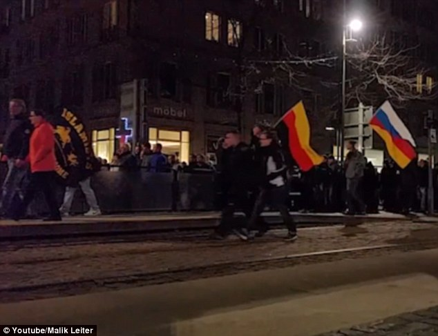 Around 8,000 people joined the anti-Islam PEGIDA movement for a rally in Dresden over Angela Merkel's decision to allow up to one million migrants into the country this year