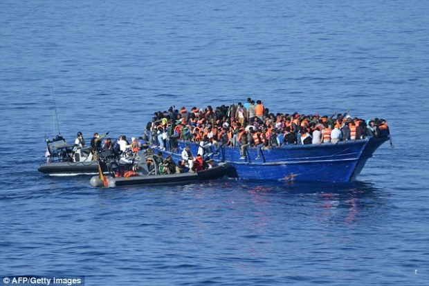 The rescue operation lasted more than six hours, the ministry said, as Spanish navy personnel ferried refugees to their ship on board small inflatable, motorised boats
