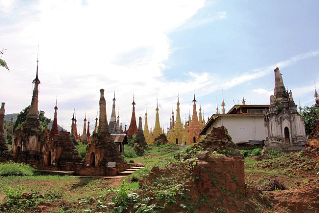 The landscape of slender-tipped stupas slowly unfolded as you travel from the towns of Nyaung Shwe to Shwe Inn Dein