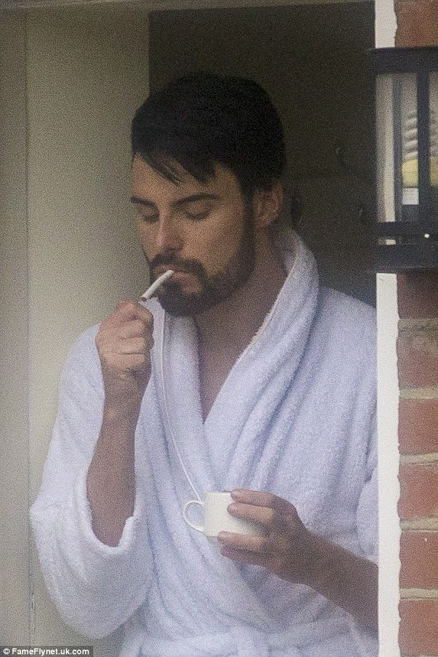 Rylan Clark Puffs Away On A Cigarette As He And Dan Neal