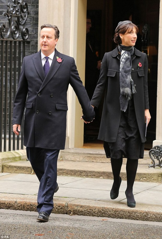 David Cameron, pictured leaving Downing Street today with wife Samantha, has previously refused to rule out leaving the Convention