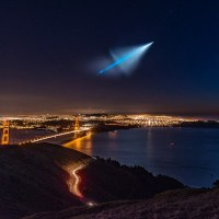 Stunning Photo of Missile Launch of Golden Gate Bridge