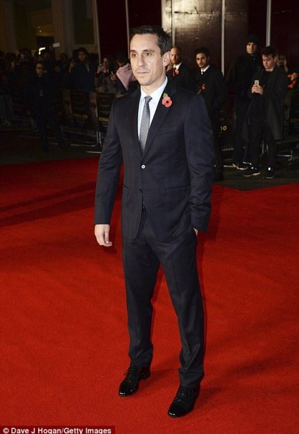Gary Neville attends the world premiere of 'Ronaldo'