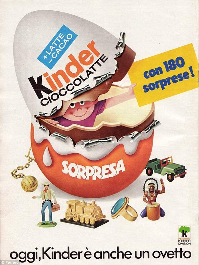 Revolutionary: Michele created the famous Kinder Surprise (pictured) egg with a toy hidden inside in the 1970s