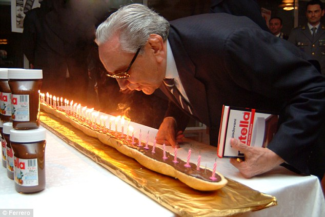 Iconic: Michele Ferrero (pictured) created some of the world's most famous chocolate treats, including Nutella, Kinder and Ferrero Rocher