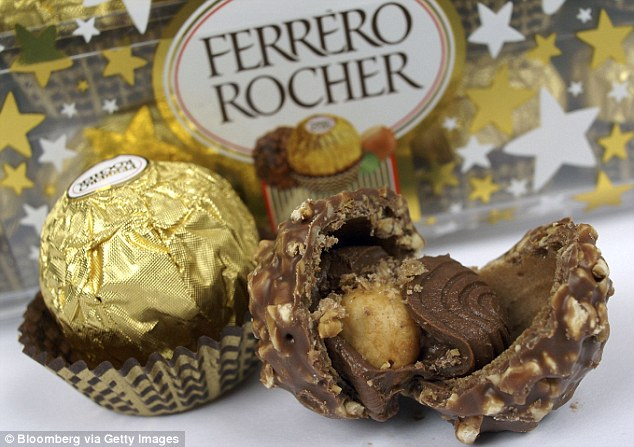 Flourishing: New creations including Ferrero Rocher (pictured) and Nutella helped transform the Ferrero family's business into the world's third biggest sweetshop worth billions of pounds