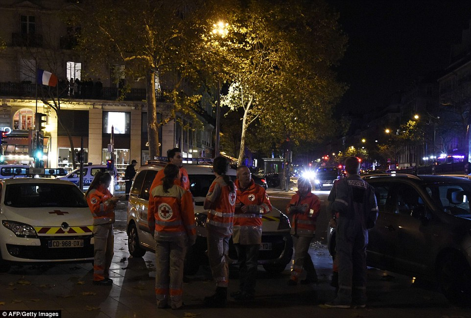 Machine gun fire and screams were heard from inside a restaurant close to the Rue Bichat at around 9pm