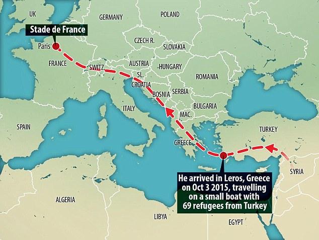 Autoridades griegas creen que dos de los hombres armados se coló en Europa haciéndose pasar por un refugiado de Siria, con un solo registro en Leros el 3 de octubre