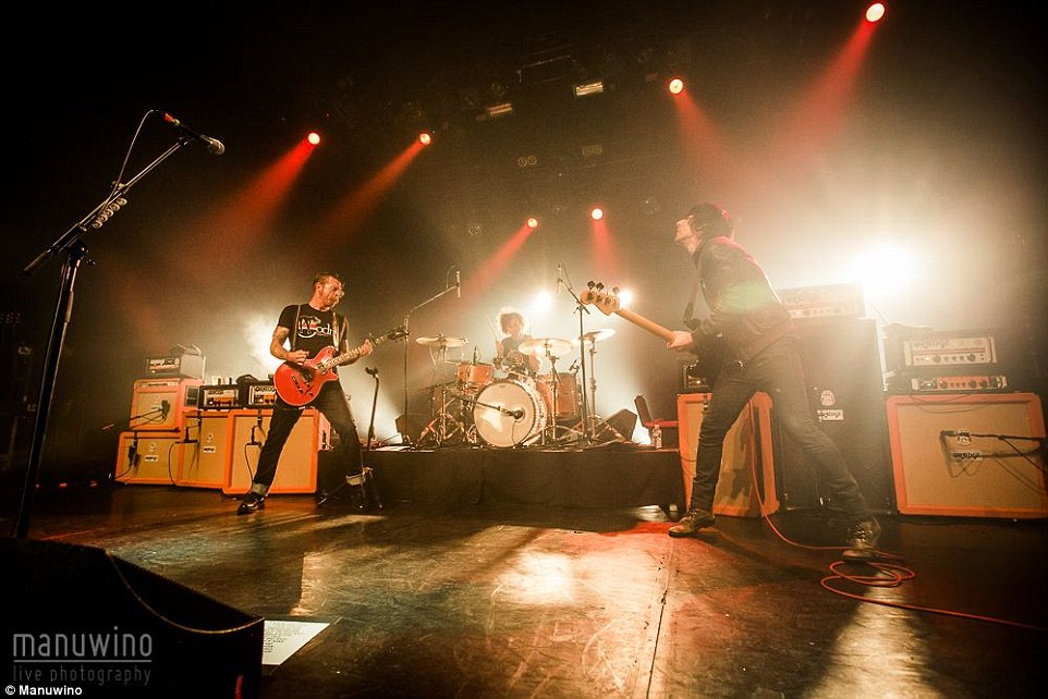 New pictures emerged on Tuesday showing the Eagles Of Death Metal playing at the Bataclan shortly before the massacre