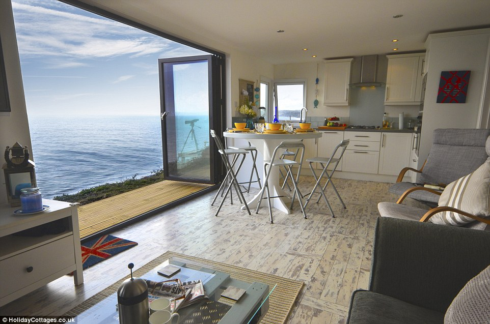 The holiday home is nestled on a dramatic four-mile stretch of coastline, where visitors can explore coves or fishing villages