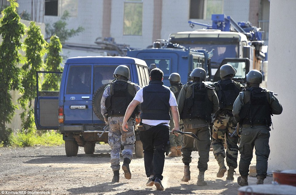 A team of 50 special forces have been clearing the hotel as dozens of officers standby outside the main building