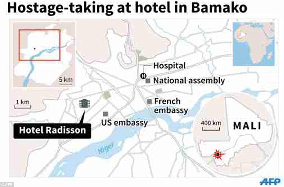 The Radisson Blu hotel has long been a popular hangout for western diplomats and ex-pats living in the Malian capital of Bamako