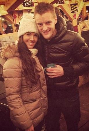 Jamie Vardy and his fiancee Becky Nicholson