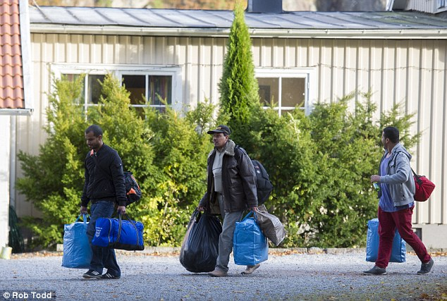 Taxes: Anger comes from the benefits given to the migrants. Councillor Mochael Ohman said: 'Everyone who comes gets an allowance of 200 Kroner (£20) a week and free housing, and who pays for that? Us, taxpayers'