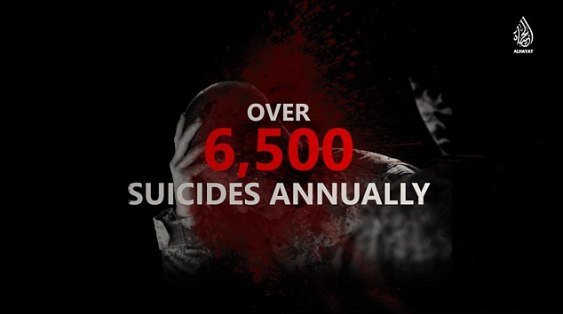 In a desperate move, the Isis video highlights the suicide rate among US soldiers