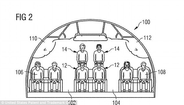 The patent follows one filed by Airbus in October which details a split-level mezzanine style aircraft. The arrangement would be used in a premium cabin such as business class with rows in the middle section alternating between floor level and an elevated level that is several feet higher