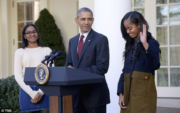 Yes I laughed: Malia acknowledged finding her dad's joke funny