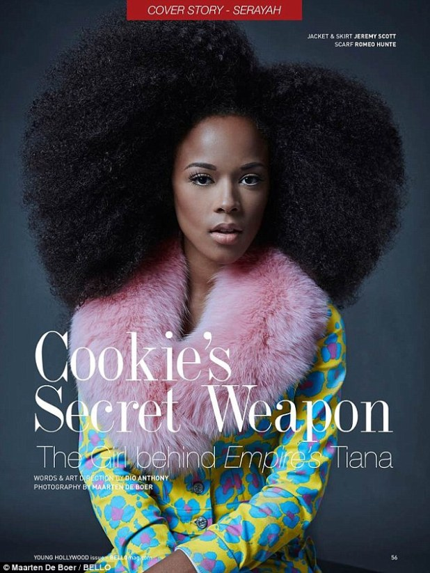 Inspiration: As to who inspires her voice, Serayah said that singers Britney Spears, Toni Braxton and the late Aaliyah come to mind
