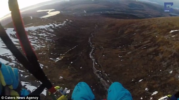 GoPro video shows man ice-climbing up Ben Nevis before ...