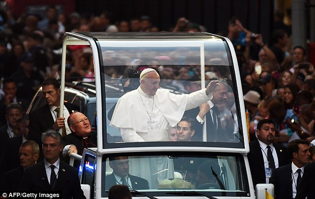 Pope Francis had delivered an emotional speech at the memorial where he mourned the lives of the nearly 3,000 victims of the 9/11 attacks and condemned senseless acts of violence while speaking in the foundations of the former Twin Towers
