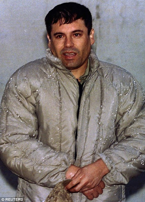 El Chapo's (pictured in 2000) cartel trafficks heroin, methamphetamine, cocaine, and marijuana across the border on an industrial scale